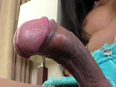 Ladyboy slut toys asshole