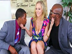 Interracial spitroasted milf sucking bbcs