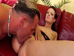 Sandra and Adrienne hardcore sex and sperm share