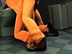 3D prisoner getting fuckced in the ass by an ebony stud