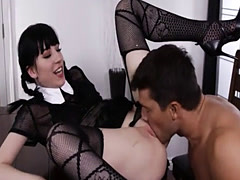 Naughty emo chick anal pounded real hard by monstercock