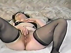 May Peters stripping and masturbating and spread for you