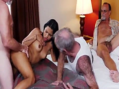 Young tarts old first time Staycation with a Latin Hottie