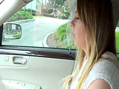 Cute blonde Alex Blake gets a helping hand by dude and gets hammered