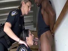 Interracial bbc blowjob swallow Black suspect taken on a rough ride