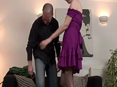 Stockinged British cougar doggystyled deeply