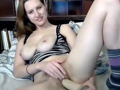 Hairy tight pussy toying