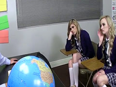 Cock sucking teen railed