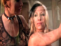 Mature mistresses dominate slave girls