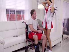 Babe Aaliyah Gives A Sexy Show In A Hot Nurse Outfit