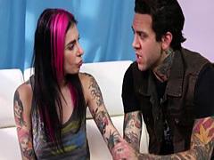 Alt tattoo whore gets cum