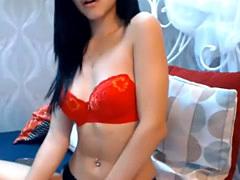 Cute Amateur Teen Latina Getting an Orgasm on Webcam