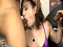 Jennifer White double penetrated by massive black cocks