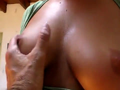 Asstoyed babe rubs her pussy with vibrator