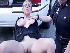 Cop femdom banged by thug outdoors