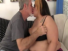 Pussyfucked BBW babe enjoys oral action