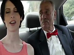 Brunette college attending prom tricked by pervert guardian