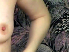 Cock hungry blonde wife playing intense on her shaved mature pussy whi