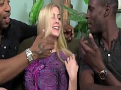 Abigaile Johnson Gets Gangbanged by Black Cocks