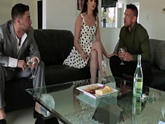 A heated perfect threesome sex act with Aspen Ora