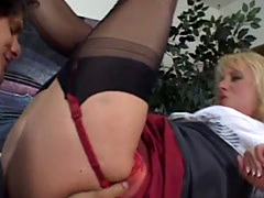 Blonde MILF boss wants cock in the ass