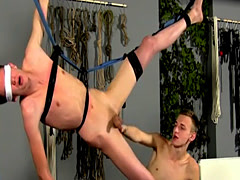 Gay boy bondage porn first time The view of the fellows nude bod