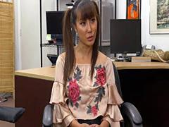 Horny pawnman fucks a slutty Asian slut Tiffany Rain