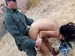 Cop uniform Cute latin peacherino Josie Jaeger rails on the rock-hard