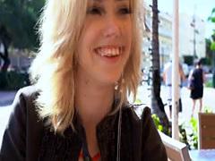 Fucking cute blonde teen outdoors