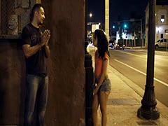 Alluring stranded teen hardfucked in public