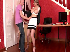 Stacked bombshell gets nailed in the office