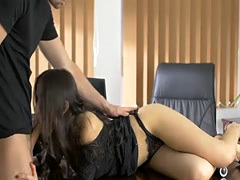 Pretty babe Sasha Rose gets nailed good  by her boss