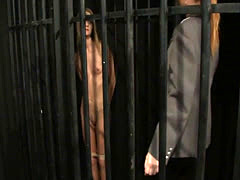 Bound sub punished and tormented by lezdom