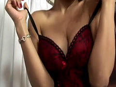 Busty Tranny In Lingerie