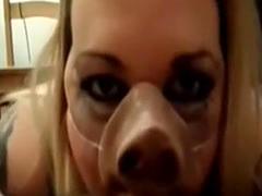 Slave Miss piggy throats masters dick