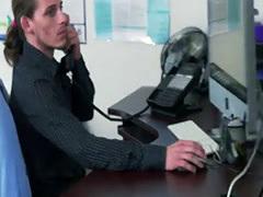 Horny boss makes sure his employees get their bonus