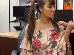 Asian Beauty Tiffany Rain Sucking Dick In Pawn Shop Office POV