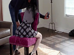 Japanese teen Charlotte Sartre analyzed by big hard cock
