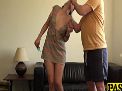 Dirty slut Liz punished and drilled hard by Pascals hard cock