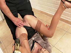Bizarre slut piss soaked