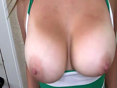 Busty amateur beauty gets doggystyled