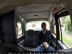 Facialized cabbie orally pleasured