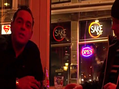 Dutch hooker jizzed after riding tourist cock