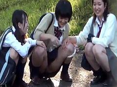Pissing highschool asians