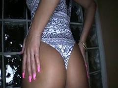 Pov latina on her knees