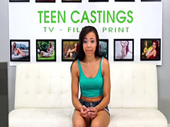 Facefucked petite spreads legs at sexcasting