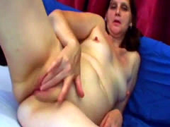 A very slutty mature woman Jindra rubs her pussy before gets fucked ha