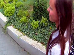 Babe pov banged outdoors on spycam