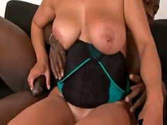 Blonde gilf gets banged by long black schlong