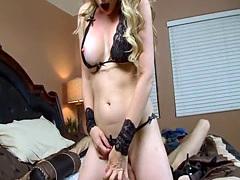 Lingerie cougar gets a Massive dick